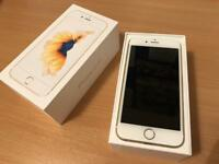 Unlocked Iphone 6s 64gb in Gold with box and unused accessories