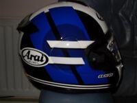 ARAI AXCES 2 SENSAI BLUE SIZE MEDIUM MOTORCYCLE CRASH HELMET.