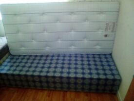 2 single beds with one brand new matress