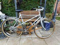 vintage ladies silver grey raleigh nova bike with lock
