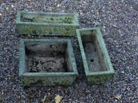 Concrete flower pots