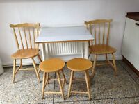 Kitchen Table, Chairs and Stools