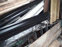 2 aluminium guttering down pipes