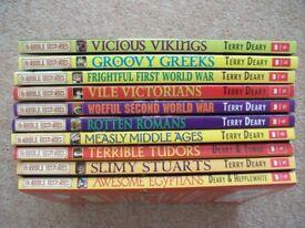Horrible Histories Books, various x 10
