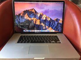 "Apple Macbook Pro 17"" Intel Core i7 2011 2.2GHz 8GB RAM 1TB HDD 1.5GB Graphics Working"