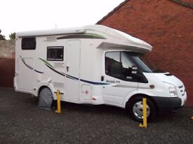 CHAUSSON SPECIAL EDITION MOTORHOME 4 BERTH 6M 3500KG HUGE GARAGE LOW MILEAGE NO PETS ALMOST AS NEW