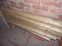 2 x 2 tanalizsed timber 3.5 metres