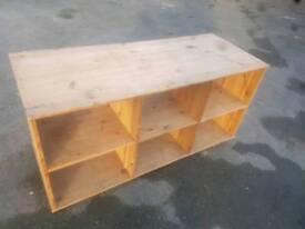 6 Cube Pine Display / Shelving Unit. £20