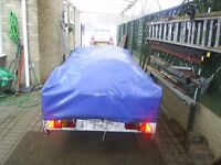 outer cover for trailer tent 8ft x 4ft to fit type with rear kitchen decent all round no rips ext