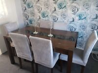 6 chairs and dinning table