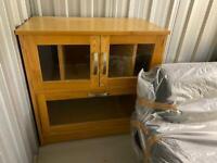 Solid Oak media cabinet