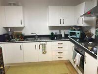 Kitchen worktop, Zanussi hob, Leisure Sink and tap
