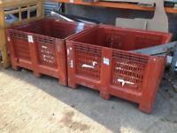 Large plastic storage bins scrap bins firewood store composter