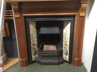 Caste. Iron fireplace and surround