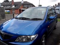 2003 Blue Mazda Premacy GSI, 5 door Hatchback, 5 Seat, Petrol Car, Manual
