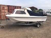 Seahog Hunter 16' Fishing Boat Dory with Steering & Tonneau Cover