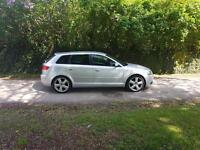 2006/06 Audi A3 2.0 Tdi S Line Only 55K Fsh Silver 5DR
