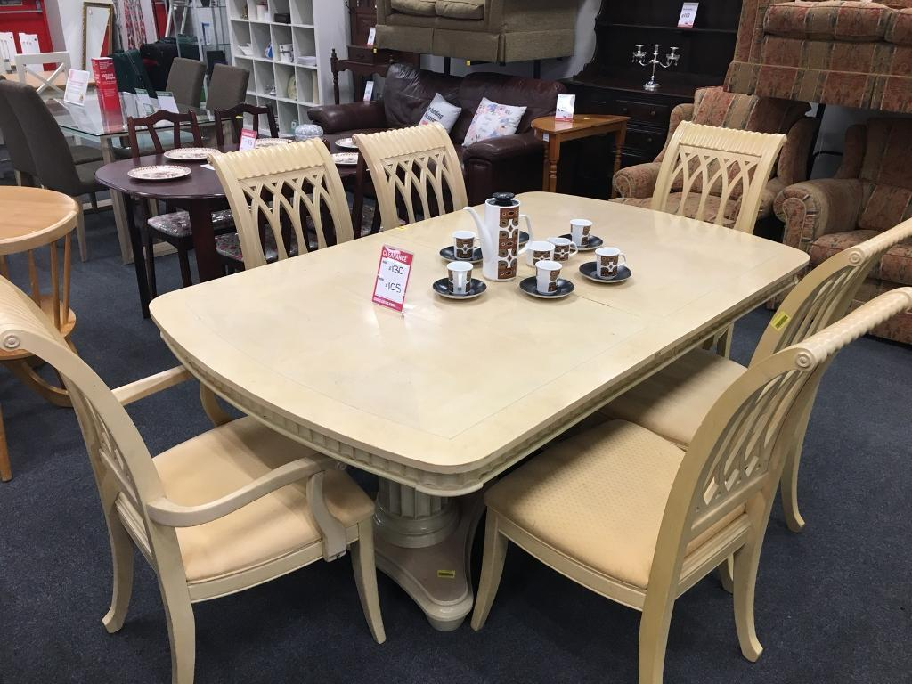 Groovy Bhf Large 6 Seater Table Chairs In Swansea Gumtree Home Interior And Landscaping Palasignezvosmurscom