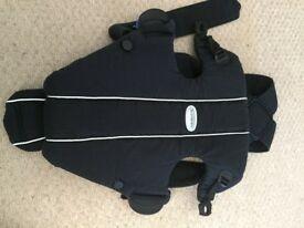BabyBjorn black carrier and waterproof fleece cover