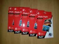 Job lot- 5 packs of 7 x 5 photo paper