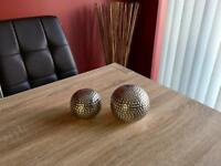Silver Stipulated Ornamental Balls
