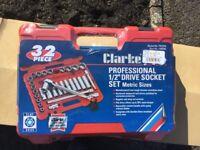 """Socket Set 1/2"""" 32 Piece Brand New Still Sealed"""