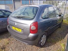 CITREON XSARA PICASSO RARE LOW WARRANTED MILES 56K, ANY OLD CAR PX WELCOME