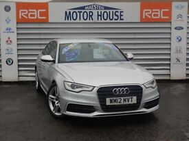 Audi A6 TDI S LINE (HUGE SPEC) FREE MOT'S AS LONG AS YOU OWN THE CAR!!! (silver) 2012
