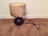 Table Lamp (glass lamp with fabric shade)