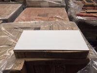 GLOSS WHITE 30X60cm CERAMIC WALL TILES JOBLOT 20M2 left over from project