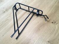 Rear pannier bicycle luggage rack