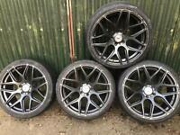 Ispiri 19 inch gunmetal bmw staggered alloy wheels & tyres 3 4 series