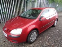 VOLKSWAGEN GOLF 1.4 PETROL 2005 5 DOOR RED 91,000 MILES M.O.T 05/12/18 no advisories SERVICE HISTORY