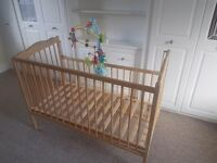 Cot and other nursery items