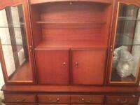 Coyle Camille Cherry Veneer 4 Door Dresser Wall Cabinet