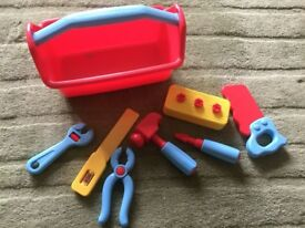 Tesco toy toolbox and tools