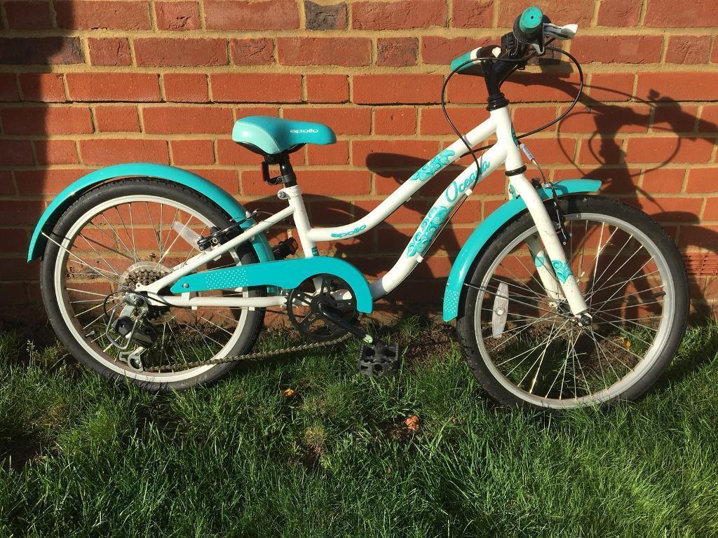 02c933d5c61 Apollo Oceana Girls Hybrid Bike with 6 Speed Gears and 20 inch Wheels