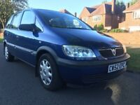 2003 Vauxhall Zafira Club 1.6, 12 Months MOT, FULL Service History, 7 Seater MPV,Excellent Condition