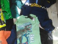 Boys Clothes Bundle Age 5-6 Frankenstein costume + Police Outfit + T-shirts + shorts