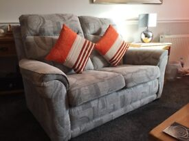 3 Piece Fabric Suite in Grey - Reclining