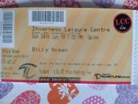 Two tickets for Billy ocean