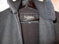 Dark grey 'Haggar' L Size wool Jacket £8
