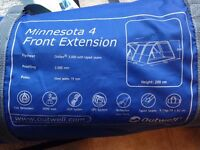 Tent extension. Outwell Minnesota 4 front extension (also fits Outwell Montana 4 and 6 tents)
