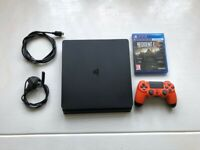Playstation 4 Slim Console (PS4) - Great condition + Controller + Game