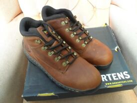 DR MARTENS INDUSTRIAL STEEL TOE CAPPED BOOTS. TEAK. NEW IN BOX. UK SIZE 11