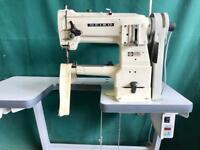 Seiko cylinder arm walking foot compound feed industrial sewing machine with silent motor