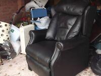 Black recliner massage chair