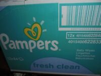 Job Lot Pampers Fresh Clean Baby Wipes - 768 Wipes, Pack of 12