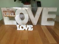 'Love' signs