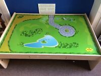 Wooden train table by Big Jigs